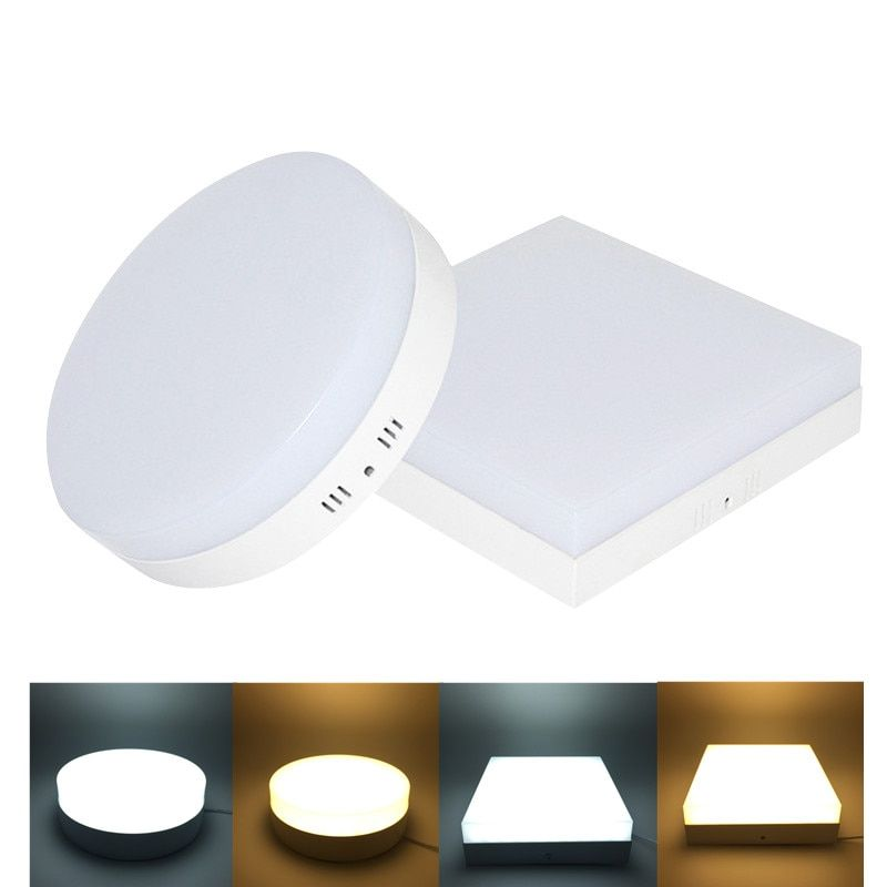 6W 12W 18W 24W LED Round/Square Panel Light Surface Mounted Downlight lighting led ceiling down AC85-265V + Driver Free shipping