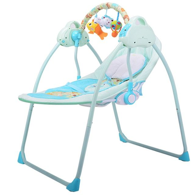 New Type Intelligent Baby Cradle Bed Electric Rocking Chair for Newborn Baby Crib Comfort Sleeping Baby Swing Remote Control C01