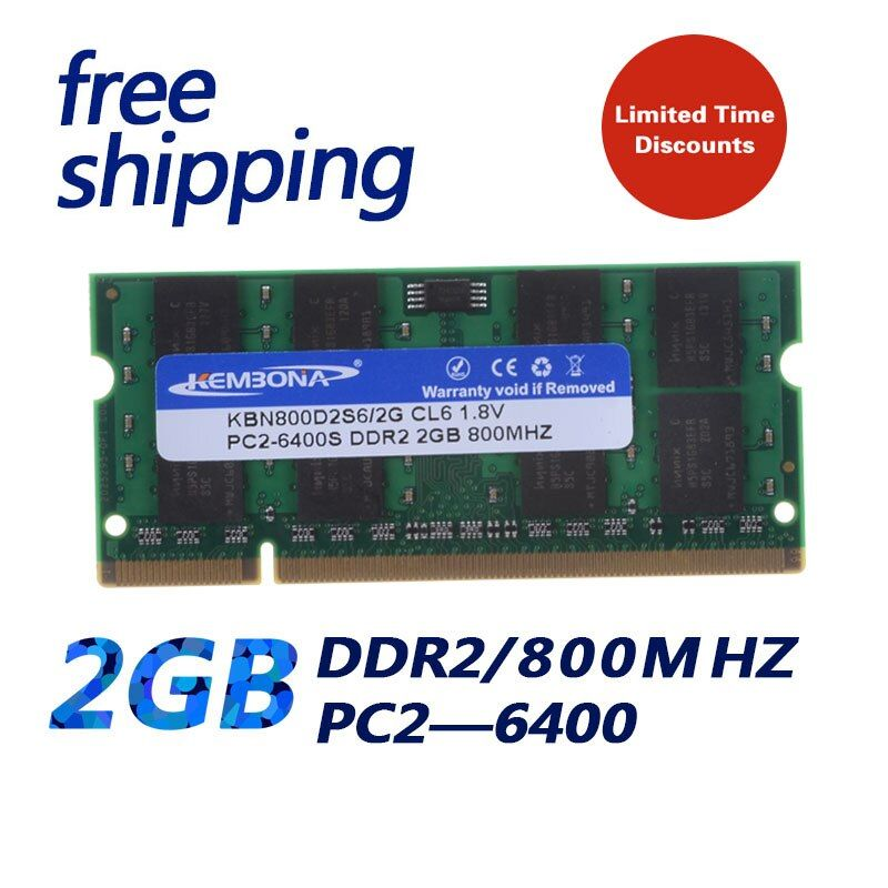 KEMBONA retail packing laptop 2gb ddr2 ram memoria 800mhz so-dimm ram memory buy direct from china excellent quality