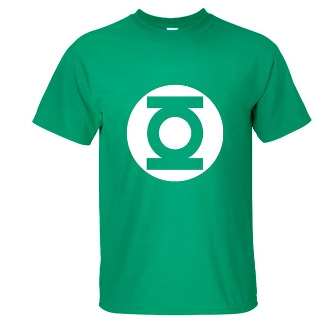 2016 T Shirts Men American Comics Green Lantern Short sleeve Homme O-Neck Cartoon Loose Design Print Men's T-shirts