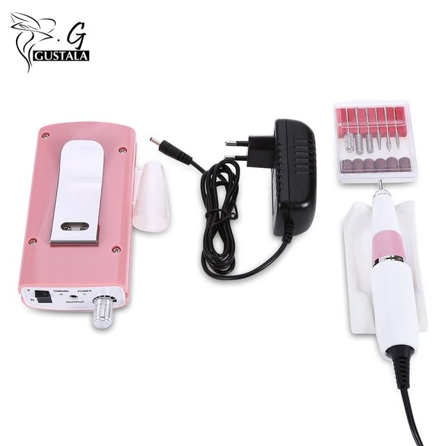 Gustala Rechargeable 18W 30000RPM Electric Nail Drill Machine Acrylic Nail File Drill Manicure Pedicure Kit Nail Art Equipment