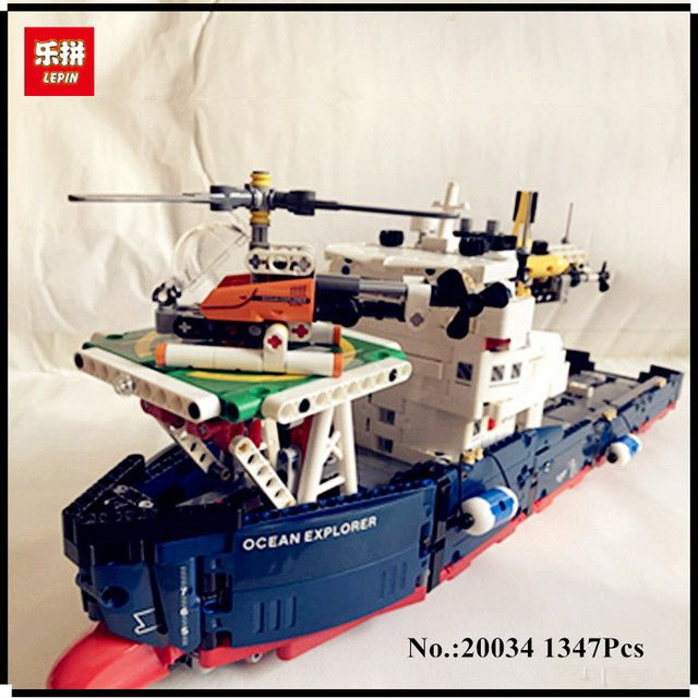 IN STOCK Lepin 20034 1347pcs Genuine New Technic Series The Searching Ship Set Educational Building Blocks Bricks Toys 42064