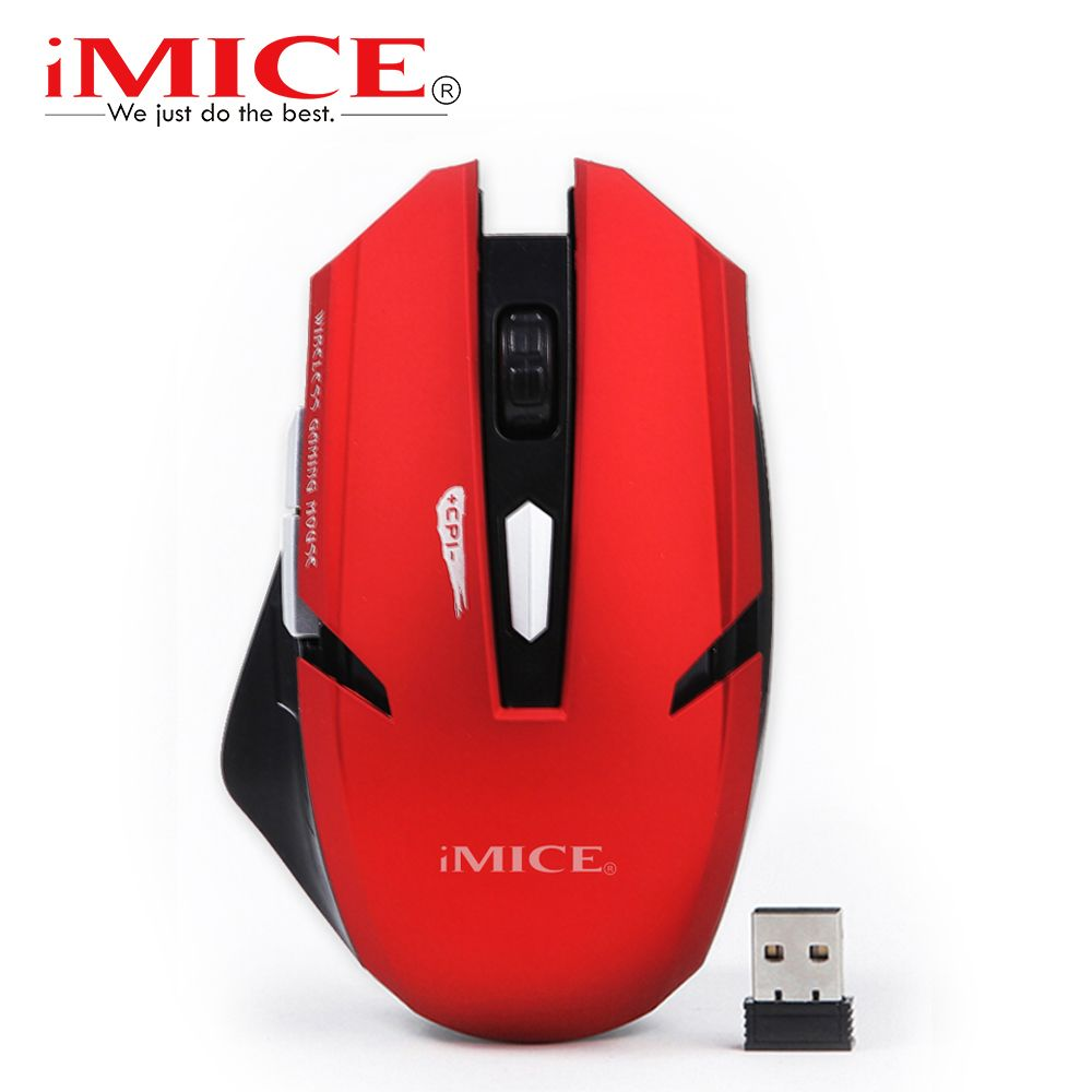 imice 2000DPI Wireless mouse 6 Buttons Gaming Mouse Gamer Mice 2.4G Optical Computer Mouse USB Receiver for PC Laptop Desktop