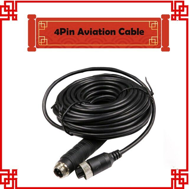 free Shipping male to female aviation Cable 3M 8M 15M Power Video, Audio,GND 4pin cables