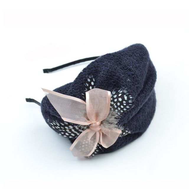 2018 New Fashionable Women Berets Hat Bowknot Headband Girls Hair Accessories