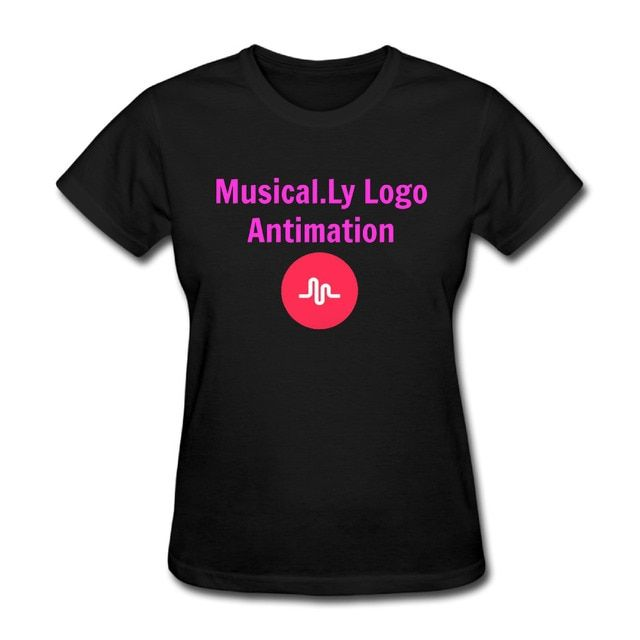 Musical.Ly Logo Antimation - YouTube T-shirts for Women Harajuku Funny Product Tops Lady Casual Short Sleeve T-Shirt Tops