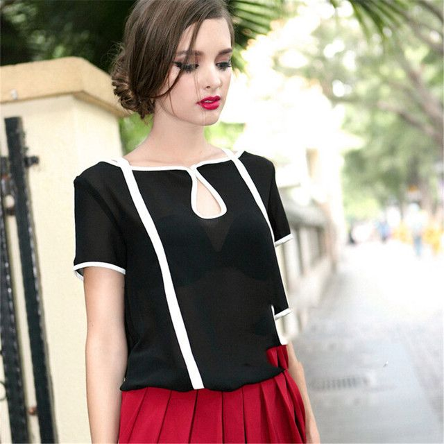 Summer Style Plus Size Clothing Thin Black T shirt Women Loose white T shirt Chiffon Short Sleeve Suitable TShirt Cheap Clothing
