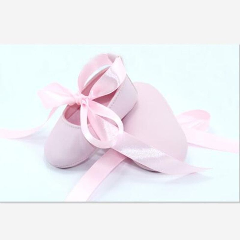 New Lovely Pink Baby Girls Shoes Infants Ribbon Bowknot Ballerina Booties Fashion Newborn Princess Shoes First Walkers