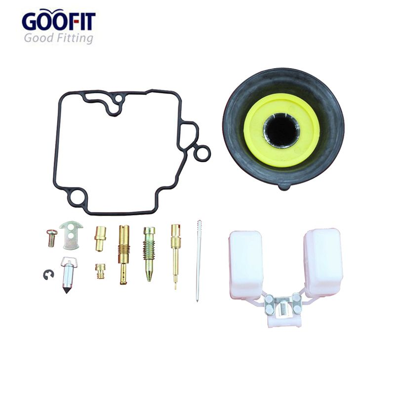 GOOFIT 16.5mm Carburetor Repair Kit Rebulit Kits for GY6 49cc 50cc Gas Scooter Go Kart & Scooter TaoTao A012-047