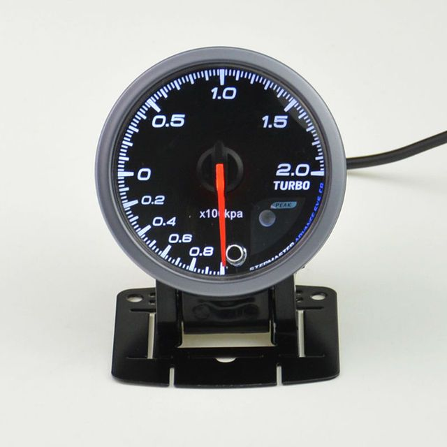 60 mm CarTurbin boost gauge and turbo gauge Car meter warning function Automotive instrument pressure gauge +pods