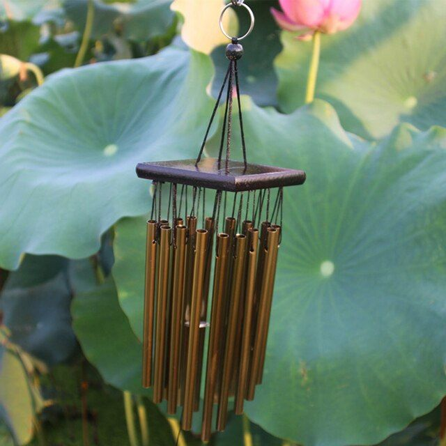 66cm Metal Wind Chime Outdoor Living Wind Chimes Yard Garden 16 Tubes Bells Copper Home Yard