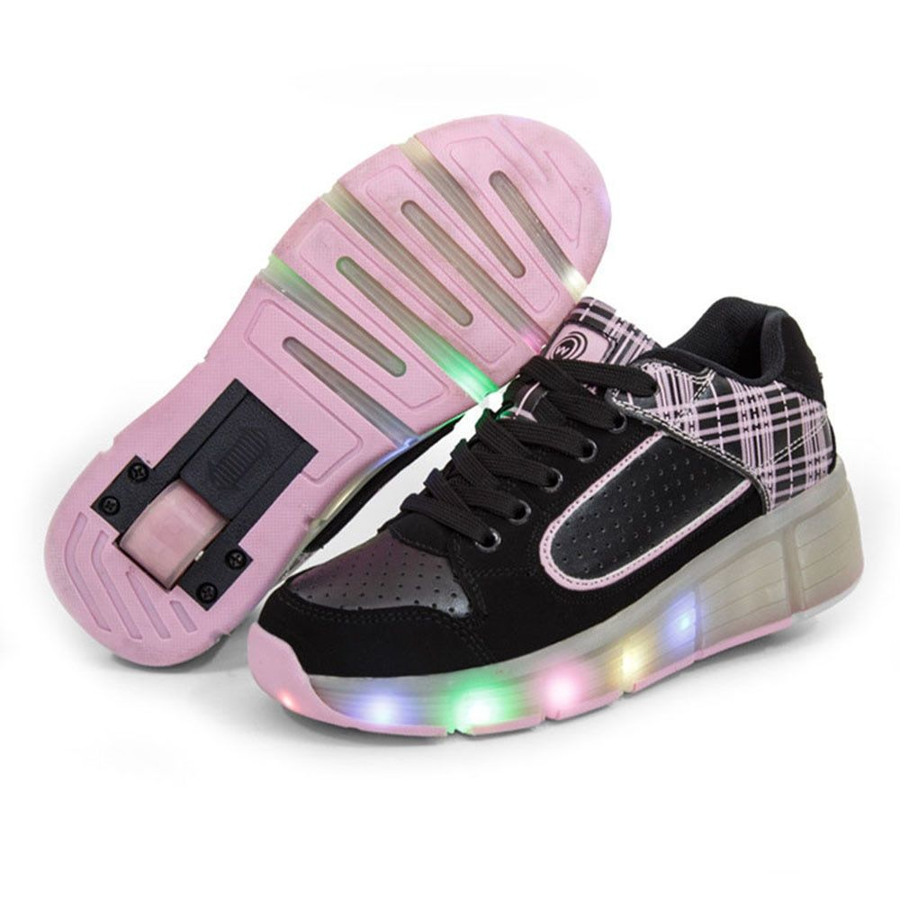 Glowing Kids Light up Shoes with Wheels Roller Shoes Children Sneakers for Boys Girls Shoes tenis masculino esportivo infantil