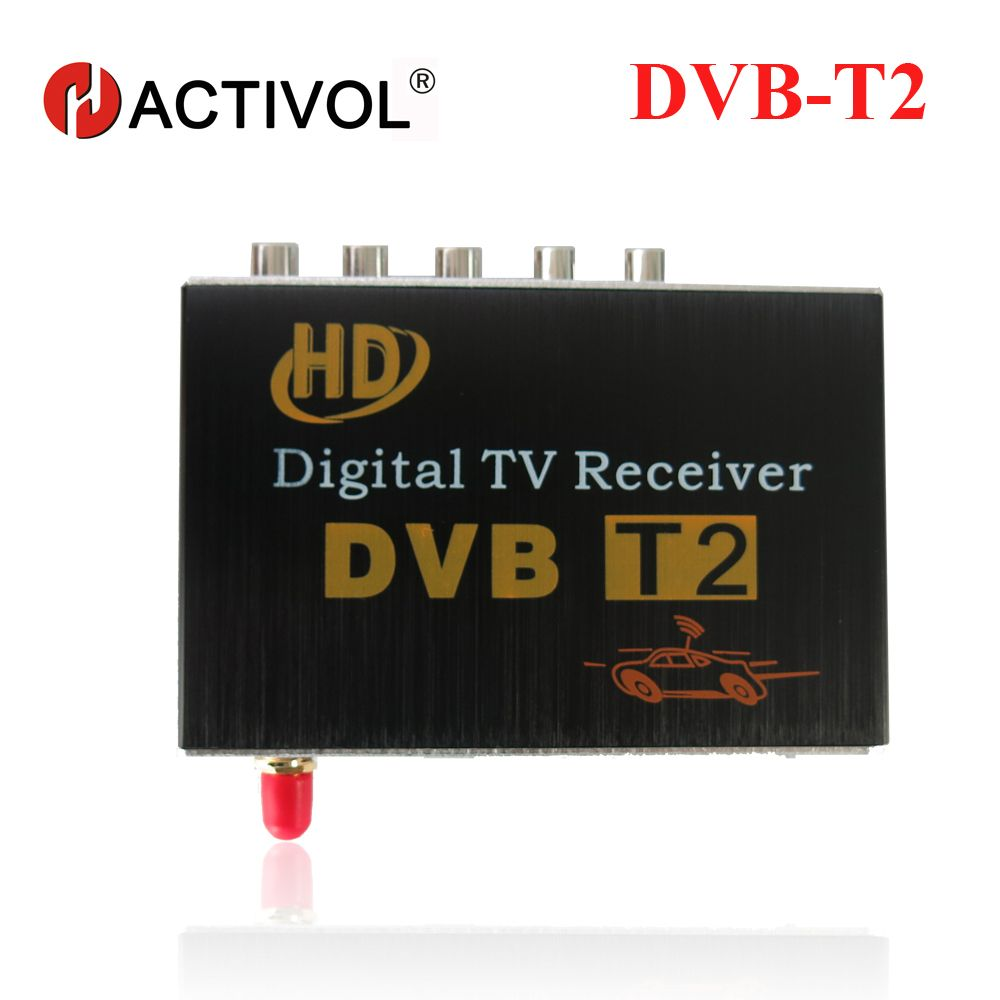 Car DVB-T2 Receiver for Russian Colombia Thailand USB DVB-T2 Android TV Tuner Car Digital Europe with Single Antenna Free Ship