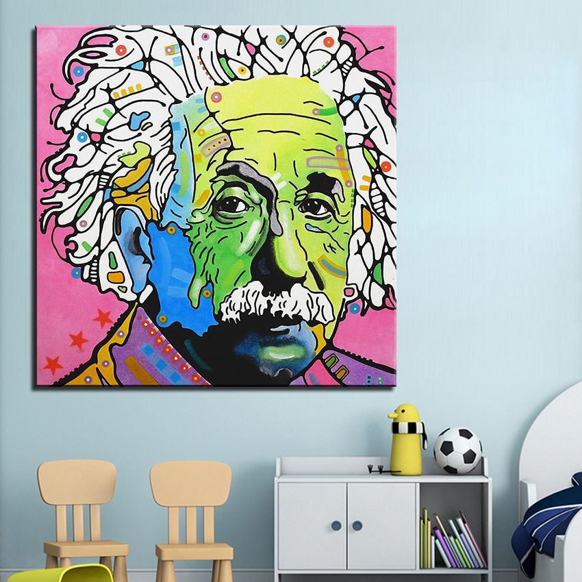 Large size Print Oil Painting Wall painting einstein Pop art Decorative Wall Art Picture For Living Room paintng No Frame