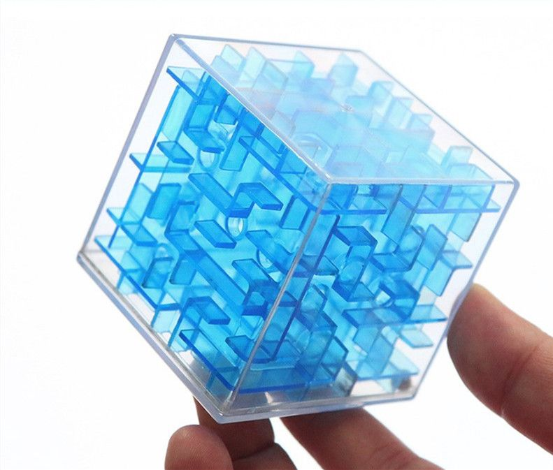 3D Mini 6cm Maze Magic Cube Speed Cube Puzzle Game Labyrinth Rolling Ball Toys Learning Educational Toy for Children Adults