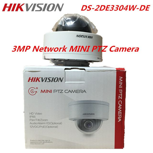 Hikvision Original English Version DS-2DE3304W-DE 3MP Network Mini PTZ IP Camera 4X Zoom IP66 PoE Security CCTV