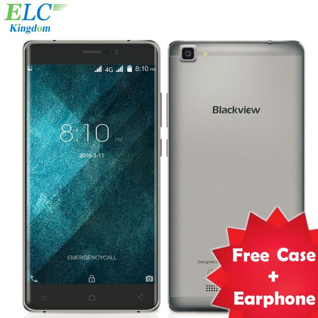 Newest Blackview A8 Max 4G LTE Mobile Phone 5.5 inch Android 6.0 MT6737 Quad Core 2GB+16GB 8MP 3000mAh 1280x720 IPS Smart Phone