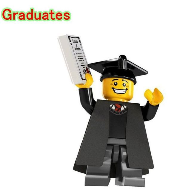 Graduates DIY Blocks Single Sale Limited Edition Assemble Models & Building Blocks Bricks For Children PG930