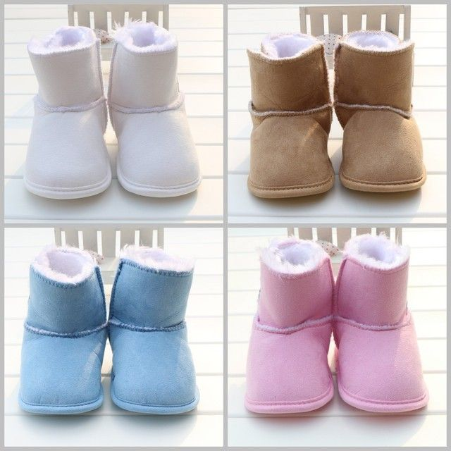 Newborn Baby Snow Boots 2017 Winter Suede Baby Boy Girls Shoes Soft Warm Kids Toddler Shoes First Walkers