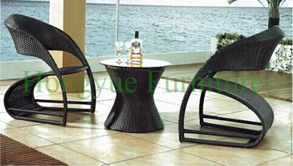 Outdoor garden rattan table chair furniture set