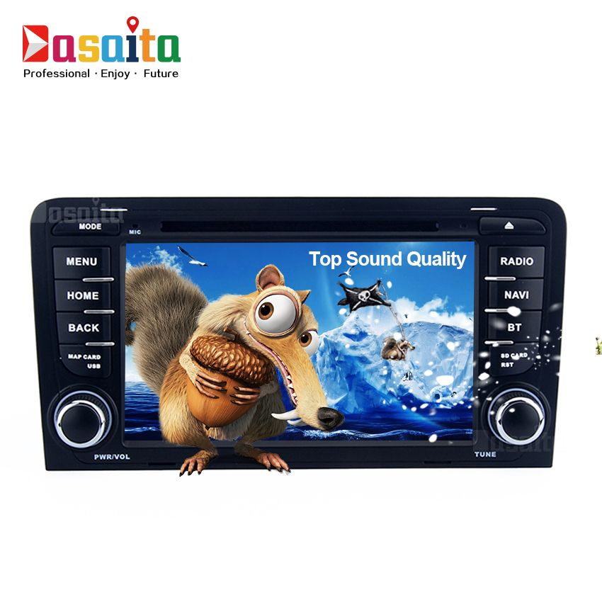 Car Radio 2 Din Android GPS for Audi A3 S3 RS3 03-12 GPS navigation headunit radio recorder 2din audio DVD player Android 5.1.1