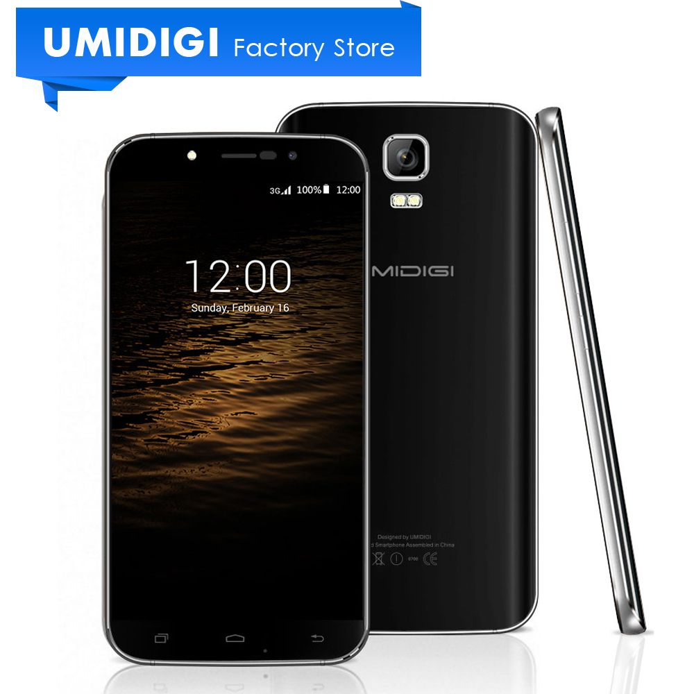 Umidigi Rome x GSM WCDMA Android Lollipop 5.1 Smartphone GPS 2500Mah 5.5 inch 8GB ROM Black Gold Mobile Phone