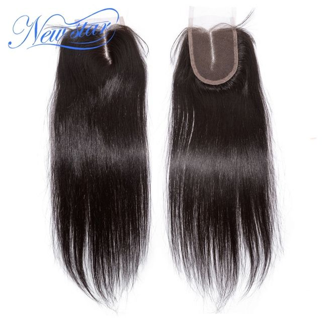 aliexpress New Star peruvian virgin hair straight top lace closures middle part 4*4 size natural color 8-24inches 30-55grams/pcs