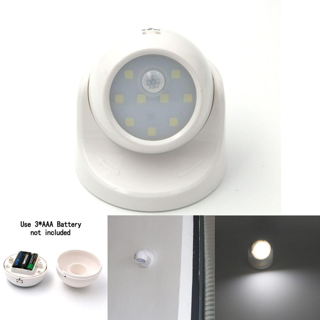 LightInBox On Sale  9LEDs NightLight Infrared Induction Lamp Motion Sensor Night Light for Bedroom