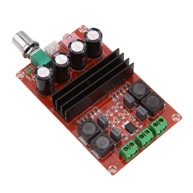 XH-M190 Tube Digital Audio Board TDA3116D2 Power Audio Amp 2.0 Class D Stereo HIFI amplifier DC12-24V 2*100W