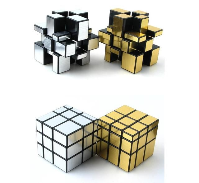 2016 New shengshou 3x3x3 Mirror Blocks Silver stickers Shiny Magic Cube Puzzle Brain Teaser IQ toys