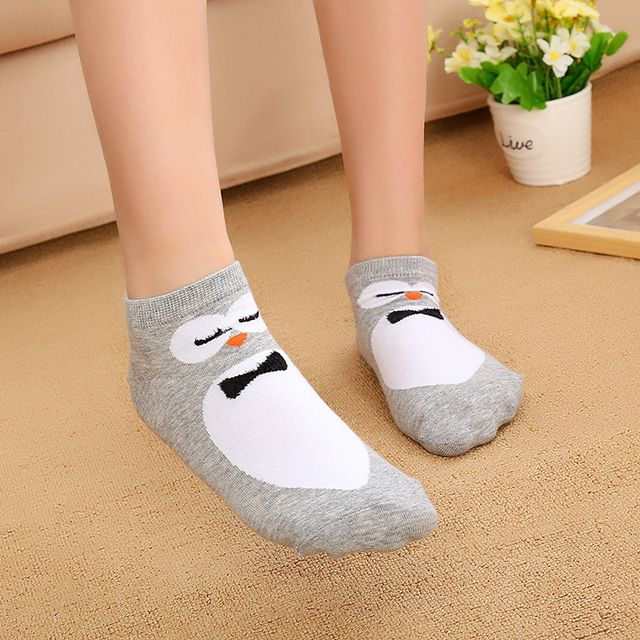 Cartoon Cotton Funny Cute Owl  Socks for Female Warm New Fashion Women's Winter Animal Pattern Female Socks Meias