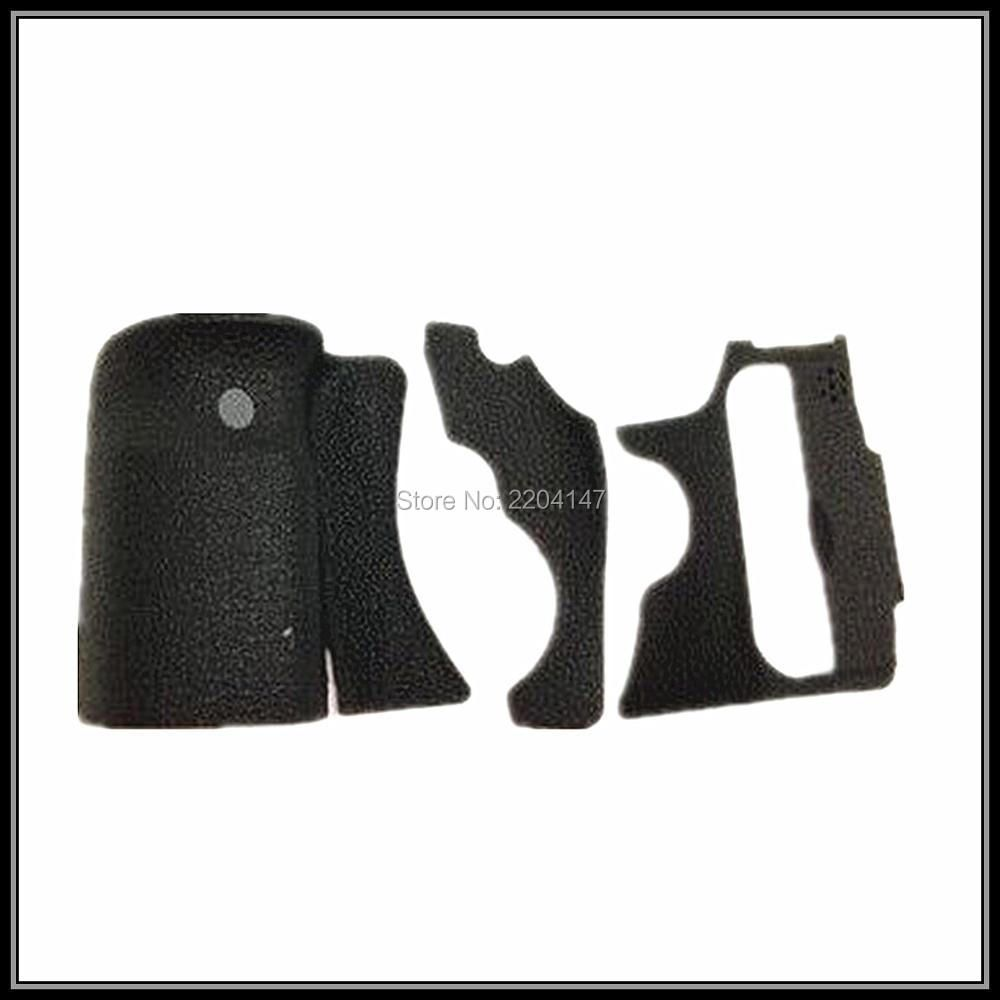 new A Set of 3 Pieces Grip Rubber Cover Unit For Canon 60D DSLR Camera With 3M Glue