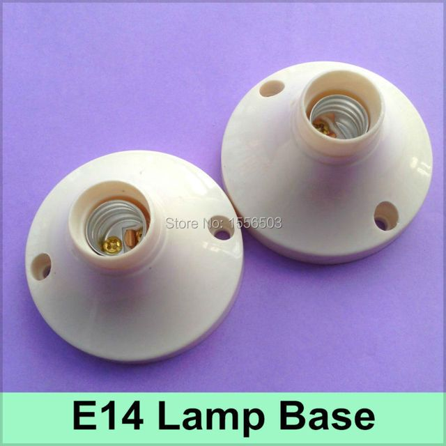 10X E14 Lamp Base Screw LED Lamp Holder E14 Fitting Wall Socket E14 Aging Test Fix Lamp Base Bracket
