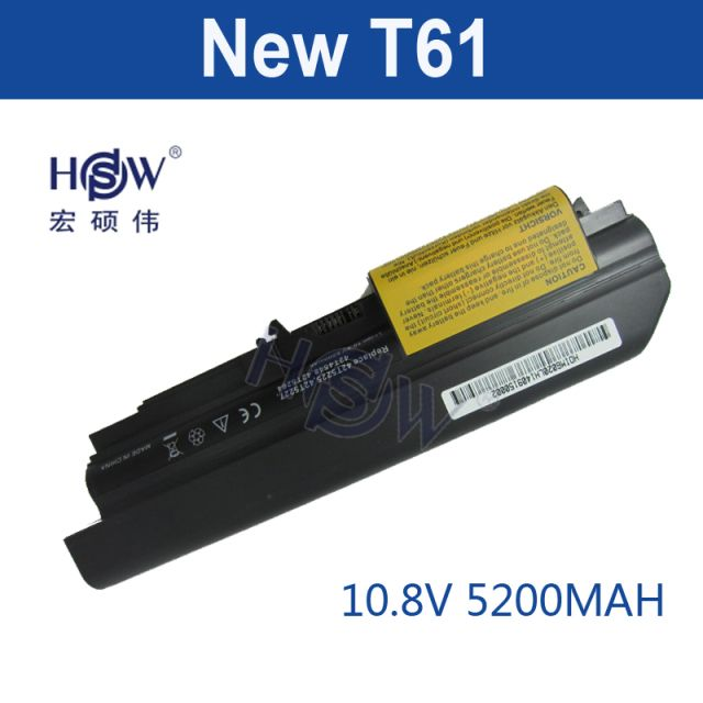 "HSW Laptop Battery For IBM 41U3196 41U3198 42T5265 42T5262 42T4548 ThinkPad R400 T400 R61 R61i T61 T61p T61u (14.1"" ) bateria"