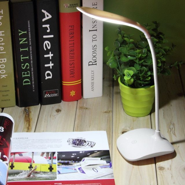 Flexible USB LED Desk Lamps/Table Lamp Study Reading Lamp USB Rechargeable Led Touch Luminaria Lapara De Mesa 14 LED Lamps 5V T1