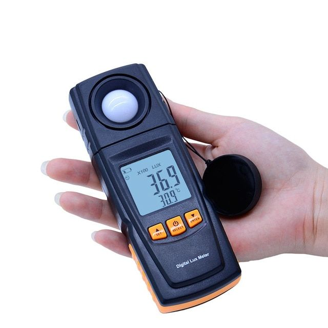 Hot Digital Lux Light Meter GM1020 USB LCD backlight Display Handheld  Photometer Up to 200,000 Lux Meter