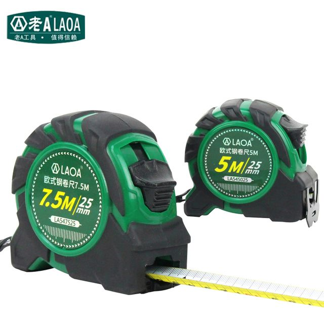 LAOA 5M/7.5M Tapeline Double Side Steel Measuring Tape European Style Measure Tools