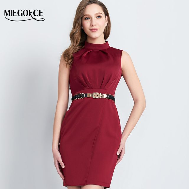 Women Fitted Summer Dresses Suit Women under Elegant Dresses Bodycon Office European Style High Quality MIEGOFCE New Collection