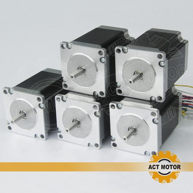ACT Motor 5PCS Nema23 Stepper Motor 23HS8630 Single Shaft 6-Lead 270oz-in 76mm 3A CE ISO ROHS CNC Router Mill Cut Laser Machine