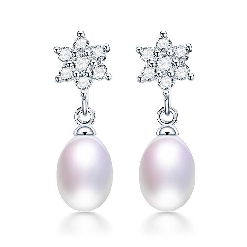 HENGSHENG Genuine Luxury Natural Pearl Earrings Dangle Earring Genuine Pearls Drops Perfect Fine Jewelry