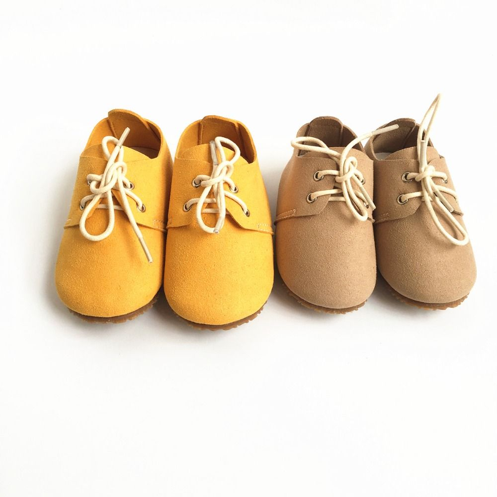 Genuine Leather Baby shoes Suede First Walkers indoor non-slip Toddler Baby moccasins lace-up bebe Shoes