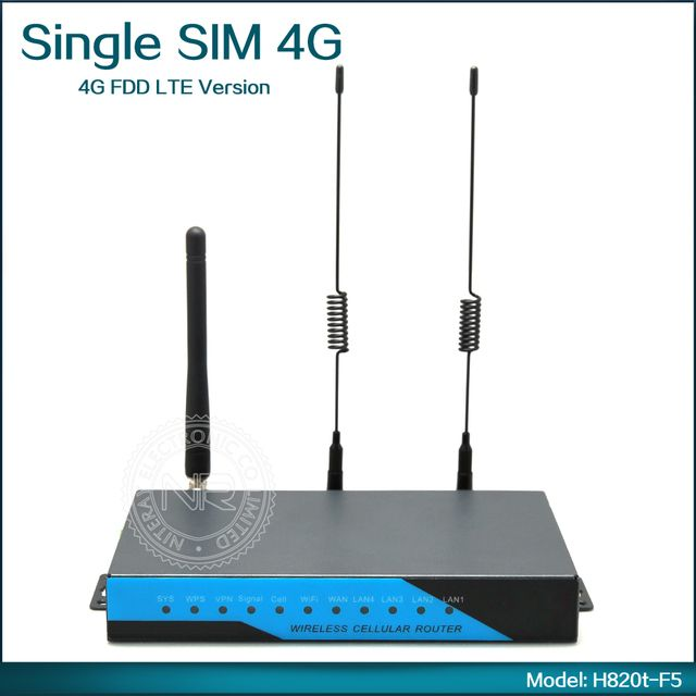 Mini Router Movable 4G FDD LTE Router Mifi LTE Router 4G LTE Modem With Single SIM Dual Cell Antennas ( Model: H820t-F5 )