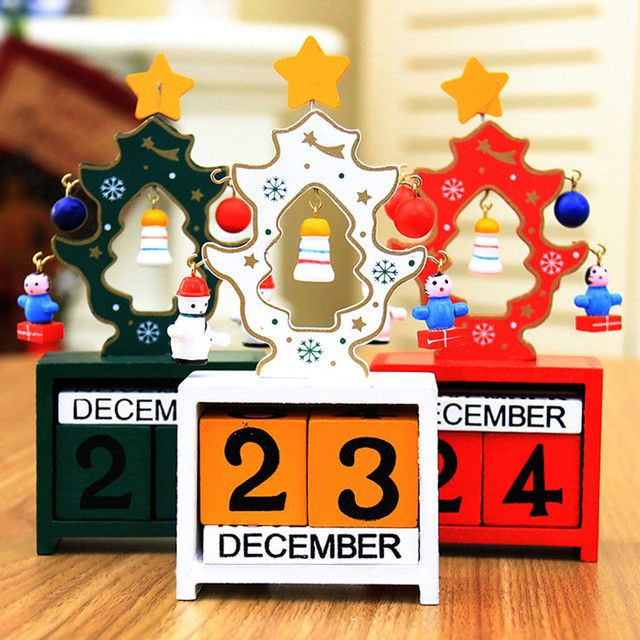 Min Wood Christmas Calendars Christmas Decorations For Home Xmas Ornament Advent Calendars Navidad Children's  Christmas Gifts