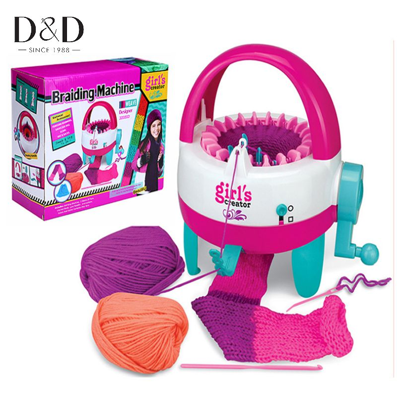 22 Needles Plastic Knitting Loom Machine Hand Crank Weaver Children Educational Learn Toys Gift with Sewing Tools DIY Crafts
