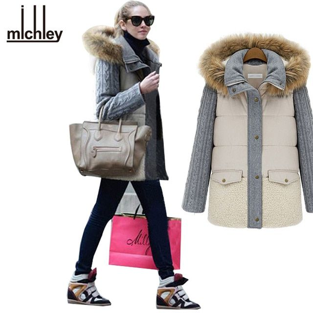 2016 Padded Coat Women Slim Long Sleeve Cotton Women Thick Padded Jacket Coat Large Size Women Parka LS605