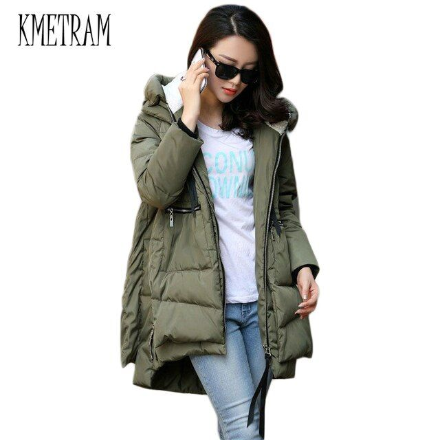 Winter Jacket Women 2016 New Europe Style Fashion Loose Medium Long Autumn Winter Plus Size Down Parkas Lady Down Coat Hot M0514