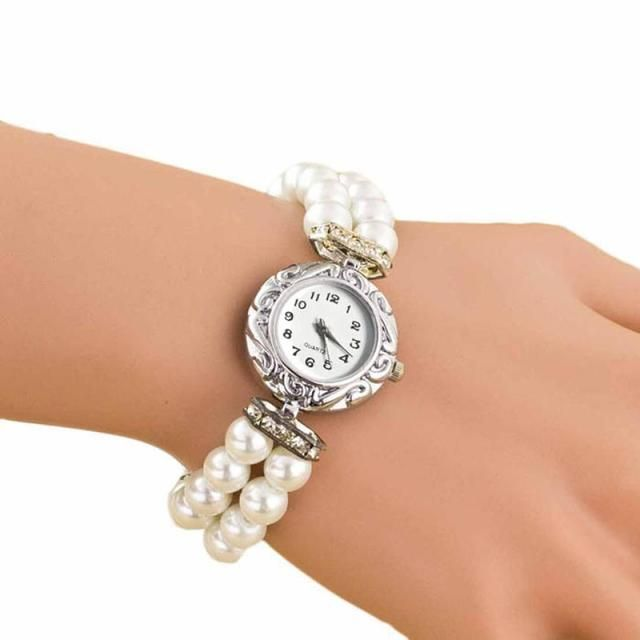 Perfect Gift women watches Students Beautiful Fashion Brand New Pearl Quartz Watch gift Bracelet Watch Levert Dropship June23