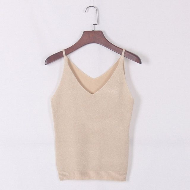 Deep V-Neck Sexy Strappy Sleeveless Vest Women Tank Casual Tops T Shirt Fashion Chic