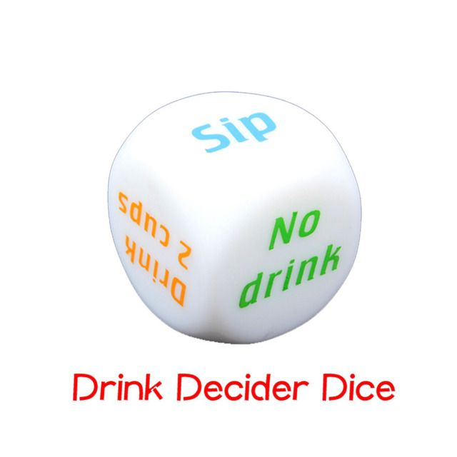 Creative Funny Drink Decider Die Games Bar Party Pub Dice Fun Toy  SS