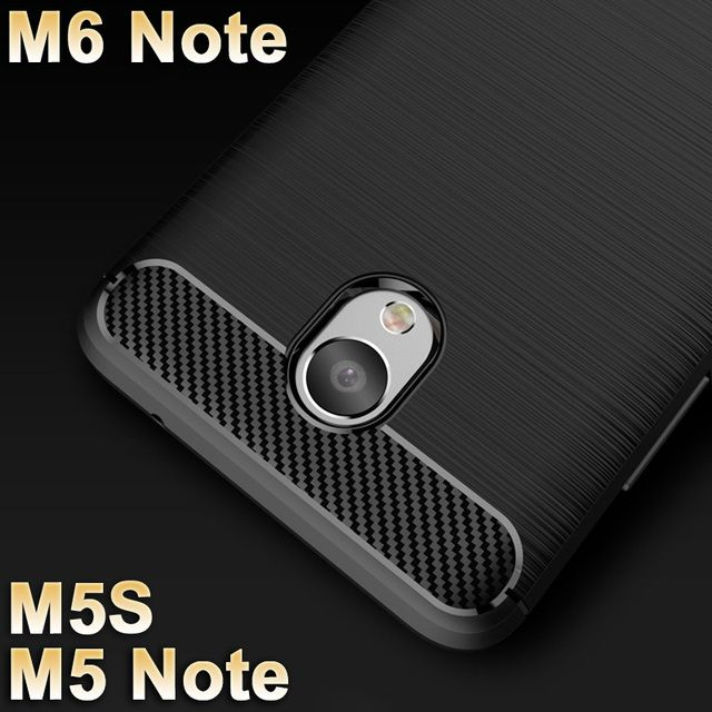 Meizu M6 note Case cover TPU Wiredrawing M5S M 5 S Meizu M5 Note Case Cover Black soft Silicone Meizu M 6 Note case Cover